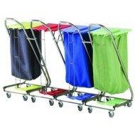 Chariot sacs à linge accrochables - Coloris bleu