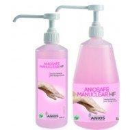 Aniosafe Manuclear HF - Le flacon pompe de 1L parfumé et coloré.