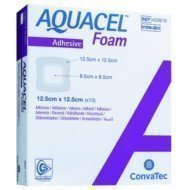 Pansement hydrocellulaire épais AQUACEL® Foam Adhésif - La boîte de 10, dim. 10 x 20 cm.