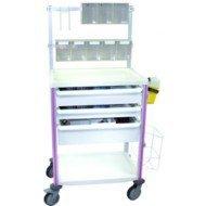 Guéridon aménageable Agily® 600 x 400 Tablettes à rebords - Le guéridon vert pomme.