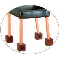 Surélévateurs de meuble - Pour chaises : 3 trous de Ø différent, H 11 cm