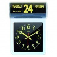 Horloge à date noire et jaune