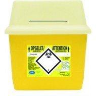 Récupérateurs de déchets Sharpsafe™ - Récupérateurs 4 litres avec clapet.