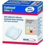 Cutimed® Siltec® hydrocellulaire nouvelle génération - Cutimed Siltec B avec bords adhésifs